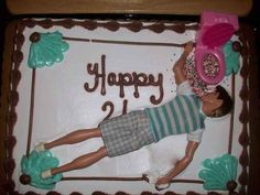 And this highly inventive 21st-birthday cake. | 25 Inspirational Parents Who Are Winning At Life