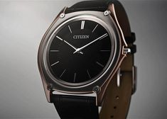 Citizen Unveils the World's Thinnest Light-Powered Watch: With an unbelievable one-millimeter-thick movement. Watch Fan, Citizen Eco, Watch Brands, Chronograph, Omega Watch, Watches For Men, Price Point, Luxury