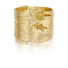 Gilded Reeds Hinged Cuff