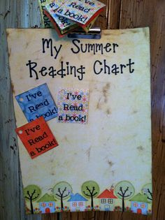 My Summer Reading Chart...Paige & I♥