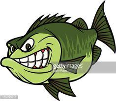 Vektorgrafik : Bass Fishing Mascot