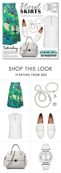 """on saturday"" by nanawidia ❤ liked on Polyvore featuring Mikimoto, Hobbs, Michael Kors, polyvoreeditorial, Floralskirts, polyvorecontest and PVShareYourStyle"