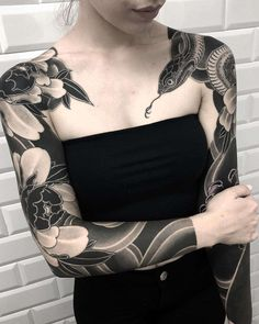 By lupo horiokami sleeve tattoos for women Japanese Sleeve Tattoos, Sleeve Tattoos For Women, Tattoos For Guys, Tattoo Japanese, Black Sleeve Tattoo, Tattoo Sleeves Women, Asian Tattoo Sleeve, Black Tattoo Cover Up, Leg Sleeves