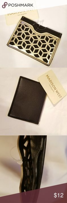 CREDIT CARD WALLET Pretty gold design with two compartments.  NWOT Madison West Accessories Key & Card Holders