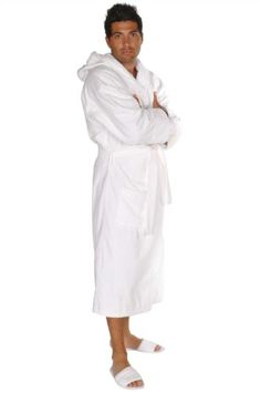 075fa477ee Turkish Cotton Adult Hooded Terry   Velour Robe - White - Adult - Small  Medium - Great Lakes Music And Products