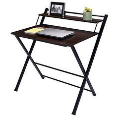 Wakrays 2Tier Folding Computer Desk Home Office Furniture Workstation Table Student Study >>> Want to know more, click on the image. #OfficeDesign