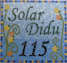 {Estúdio Joe e o Romio} mosaicos: Modelos numerais - 40x40cm