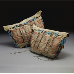 A Pair of Sioux Quilled and Beaded Possible Bags | lot | Sotheby's