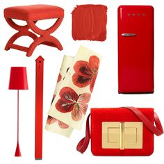 Coral Red Home Accessories via @House Beautiful