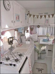 Vintage WV caravan interior