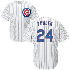 67932360405 Men s Chicago Cubs Dexter Fowler Majestic Home White Cool Base Jersey