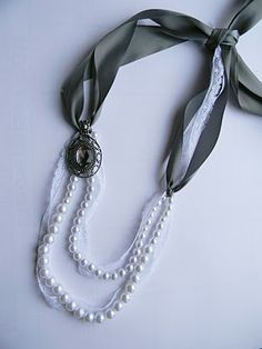 Carry on...Carry on...: DIY Lanvin-inspired Pearl and ribbon necklace
