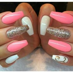 These are awesome! Ladies go get your nails done! Nail Decorations, Creative Nails, Blue Chrome Nails, Pink White Nails, Purple Glitter Nails, Green Nails, Blue Nails, Peach Nails, Pale Pink