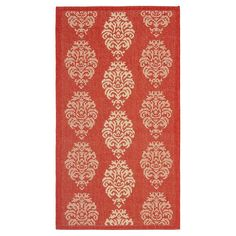 Orly Rectangle 2'X3'7 Outdoor Patio Rug - Red / Natural - Safavieh, Red/Natural