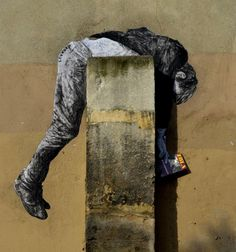 Dear art lover, today we are going to present to you Funny Art Installations By Levalet. The Beyonce of street art, this contemporary artist is turning the sad 3d Street Art, Murals Street Art, Graffiti Murals, Amazing Street Art, Art Mural, Street Art Graffiti, Street Artists, Urbane Kunst, Outdoor Art