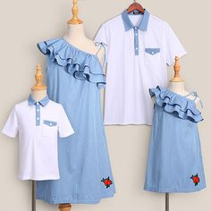 clothes for men casual Mom Daughter Matching Dresses, Matching Family Outfits, Couple Shirts, Baby Outfits Newborn, Baby Girl Dresses, Simple Dresses, Boy Outfits, Clothes, Men Casual