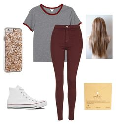 """""""Untitled #25"""" by bernaljuliana on Polyvore featuring Monki, Topshop, Converse, Dogeared and Case-Mate"""