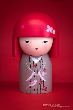 The Modern GEISHA ✿ :: Kokeshi Inspired Kimmidoll in Pink - by Sandrine 84