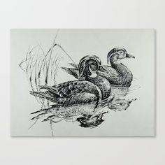 Wood Duck Pair Beach Towel by samuelhall Bird Drawings, Pencil Art Drawings, Cool Drawings, Duck Drawing, Basic Drawing, Wood Duck Mounts, Black Pen Sketches, Bird Painting Acrylic, Hunting Decal