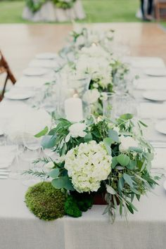 hydrangea mixed with earthy greens  Photography by onelove-photo.com, Coordination, Floral   Event Design by stephaniegrace.com