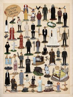 Horror Film Character Die Cuts by Max Dalton