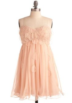 peach bridesmaids dress..i would take the peals off the bottom parts, but love the rest