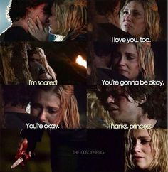 The moment my heart broke _Finn and Clarke all the way. Still recovering from this moment. Clarke And Finn, Thomas Mcdonell, The 100 Quotes, The 100 Show, Netflix And Chill, Clexa, Bellarke, We Meet Again, Book Tv