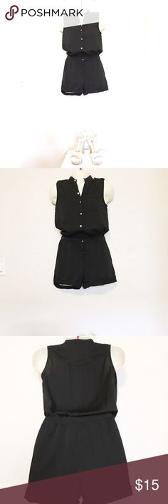 H&M Black Romper Cute Black Romper that's Perfect for any occasion can be dressed up or down. Worn a couple of times and is in great condition. #summerdress #summerclothes #casualdresses H&M Shorts
