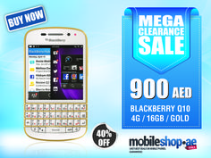 BlackBerry Q10 has a classic looks that fits on a classy people like you ;-)  http://mobileshop.ae/blackberry-q10-4g-16gb-gold