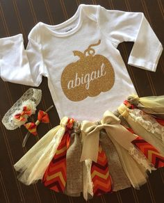 Gold and Ivory Tutu Set – Gold – Fall baby outfit Birthday Outfit – Vintage Tutu Baby Girl Tutu – Thanksgiving Outfit – Pumpkin Gold and Ivory Tutu Set Gold Onsie Fall baby by MissyRooCouture - Cute Adorable Baby Outfits Baby Girl Tutu, Baby Girl Names, My Baby Girl, Baby Love, Thanksgiving Outfit, Thanksgiving Baby, Baby Outfits, Tutu Outfits, Fall Baby Clothes