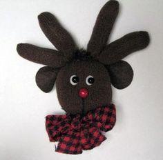 Rudolph the Glove Reindeer | AllFreeHolidayCrafts.com