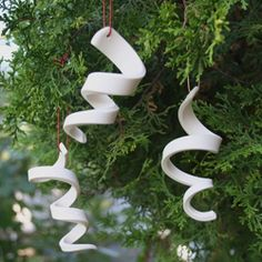 Twisted Ice ornaments-could easily do with air dry or bake clay