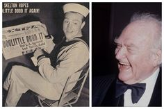 Red Skelton-Army-WW2-1944-Entertainment Corps-he performed as many as 10 to 12 shows per day. The pressure of his workload caused him to suffer a nervous breakdown. (Actor/Comedian)