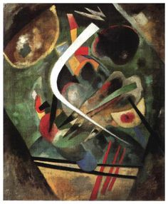 White Line -  Wassily Kandinsky 1920. Oil on Canvas at Museum Lugwig, Cologne.