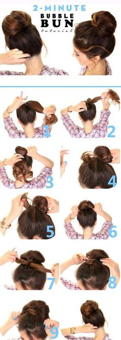 Bubble Bun Hairstyle Step By Step