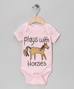 Look at this Light Pink 'Plays With Horses' Bodysuit - Infant on #zulily today!
