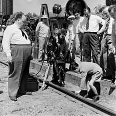 Alfred Hitchcock directing <i>Shadow of a Doubt</i> in 1942.