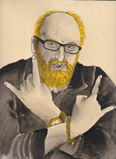 Brian Posehn ART PRINT by Jamie Noggle on Etsy