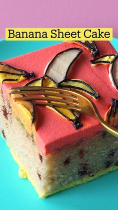 Fun Baking Recipes, Sweet Recipes, Cake Recipes, Dessert Recipes, Cooking Recipes, Köstliche Desserts, Delicious Desserts, Yummy Food, Banana Sheet Cakes