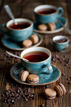 홍차&브라운 초콜릿 마카롱 세트