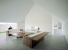 Another view of the Baron House by British architect John Pawson. The furniture is also by Pawson.