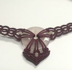 Rose Quartz Gemstone Macramé Choker Necklace  https://www.etsy.com/shop/KristaBellerDesigns