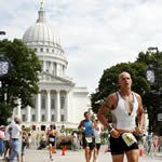 <strong>Competitors run down State Street near the Capitol building during the 2007 Ford Ironman Wisconsin.</strong><br><br>AP Photo/Wisconsin State Journal, Leah L. Jones