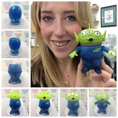 Alien tutorial - modelling chocolate, sugarcraft, cake decorating, green, blue  www.facebook.com/alicedaviescakes