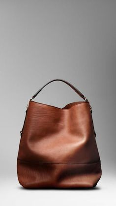 b63635f3747e79 BURBERRY Washed Leather Duffle Bag #BurberryBags Leather Tote Bags, Leather  Slouch Bags, Brown
