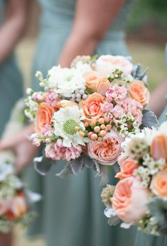 Whimsical spring bouquet | Photography: Paperlily Photography - www.paperlilyphotography.com Read More: http://www.stylemepretty.com/2015/02/09/rustic-vinewood-plantation-wedding/