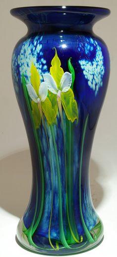 Art Glass Vase from Kela's...a glass gallery on Kauai.  Orchid Vase.