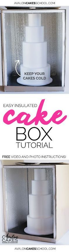 How to make an insulated box for delivering a cake, by Avalon Yarnes of Avalon Cakes School.