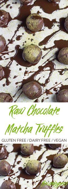 These Raw Chocolate Matcha Truffles are soooo good.