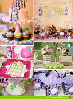Glamour Camping Party Theme cupcakes | 13th Birthday Party Ideas for Girls
